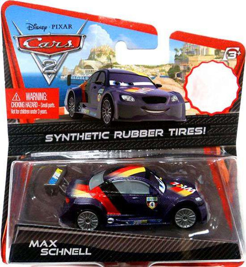 Disney / Pixar Cars Cars 2 Synthetic Rubber Tires Max Schnell Exclusive Diecast Car