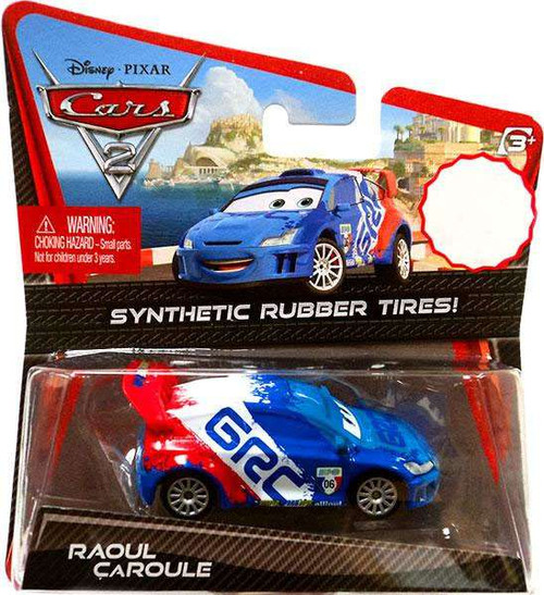 Disney / Pixar Cars Cars 2 Synthetic Rubber Tires Raoul Caroule Exclusive Diecast Car