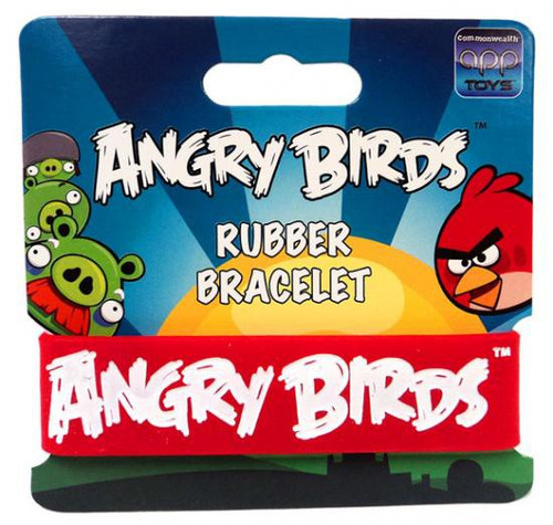 Angry Birds White on Red Rubber Bracelet
