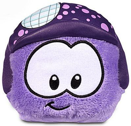 Club Penguin Series 11 Purple Puffle 4-Inch Plush [Disco Ball Hat]