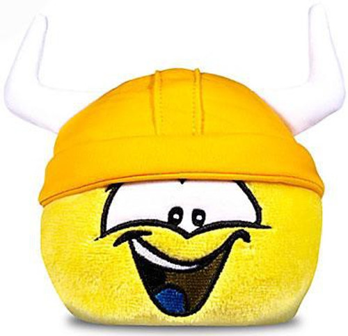 Club Penguin Series 11 Yellow Puffle 4-Inch Plush [Viking Hat]
