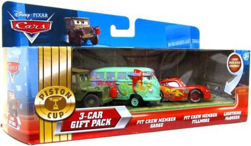 Disney / Pixar Cars Multi-Packs Piston Cup 3-Car Gift Pack Diecast Car Set [McQueen Pit Crew]