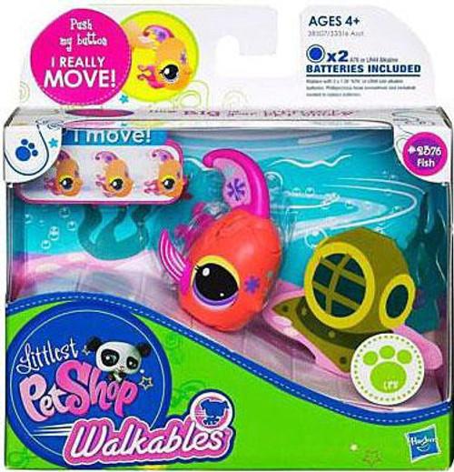 Littlest Pet Shop Walkables Fish Figure #2376 [Pink Fins]