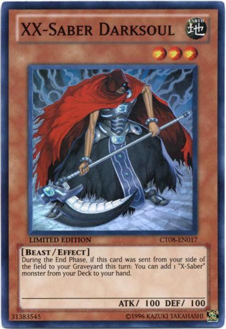 YuGiOh Trading Card Game Holiday Tin Promo Super Rare XX-Saber Darksoul CT08-EN017