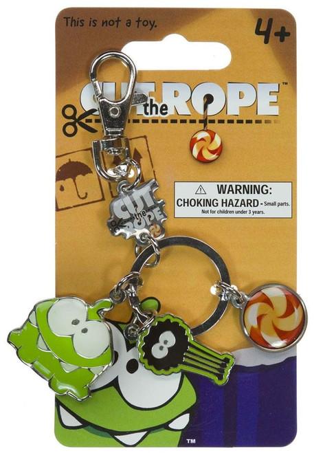 Cut the Rope Om Nom Metal Keychain