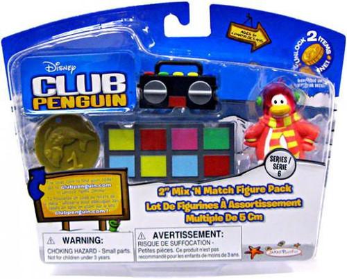 Club Penguin Mix 'N Match Series 6 Cadence Mini Figure Set