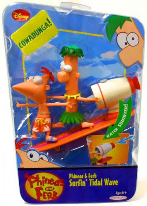 Disney Phineas and Ferb Phineas & Ferb Surfin' Tidal Wave Figure 2-Pack