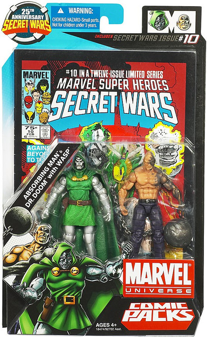 Marvel Universe Absorbing Man & Dr. Doom with Wasp Action Figure 2-Pack #10