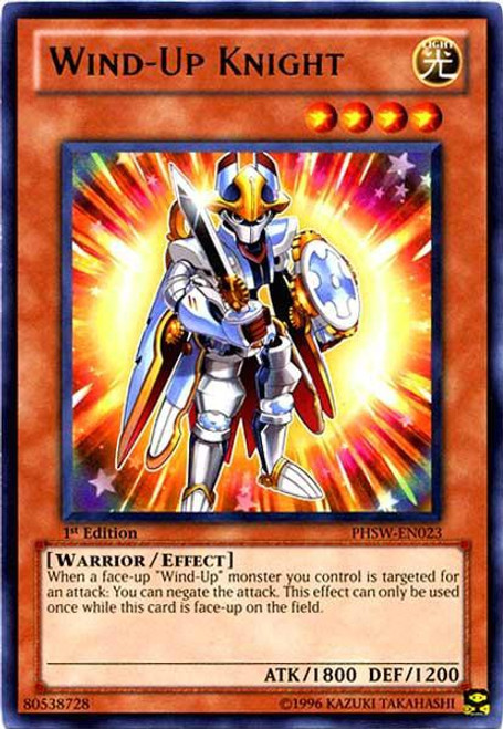 YuGiOh Trading Card Game Photon Shockwave Rare Wind-Up Knight PHSW-EN023