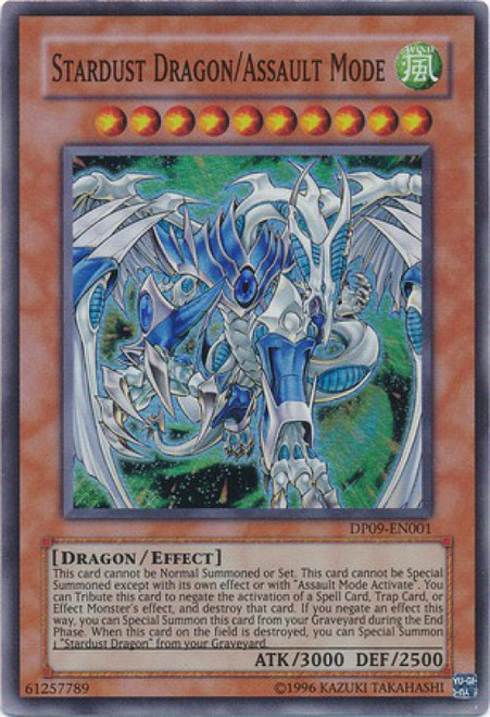 YuGiOh YuGiOh 5D's Duelist Pack Yusei Fudo 2 Super Rare Stardust Dragon/Assault Mode DP09-EN001