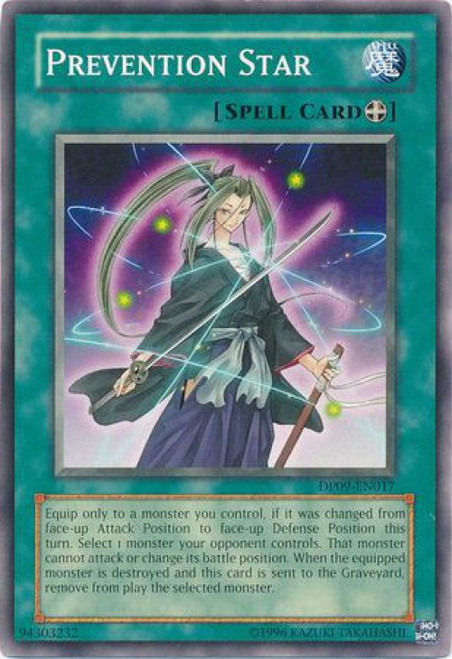 YuGiOh YuGiOh 5D's Duelist Pack Yusei Fudo 2 Common Prevention Star DP09-EN017