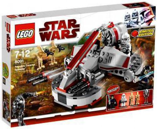 LEGO Star Wars The Clone Wars Republic Swamp Speeder Exclusive Set #8091