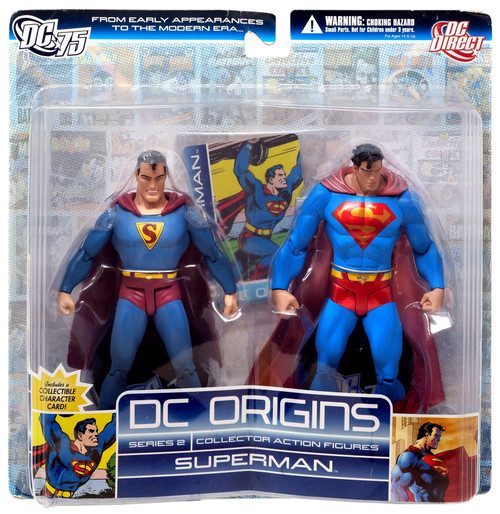 DC Origins Series 2 Superman Action Figure 2-Pack