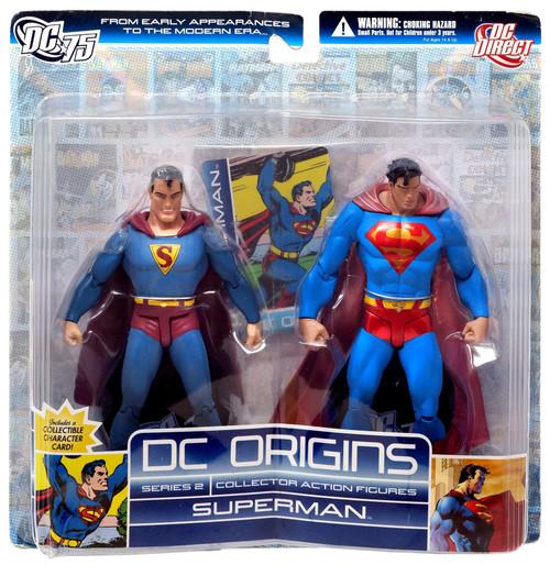 DC Origins Series 2 Superman Action Figure 2-Pack