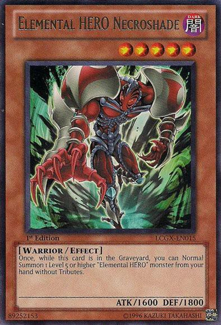 YuGiOh GX Trading Card Game Legendary Collection 2 Rare Elemental HERO Necroshade LCGX-EN015