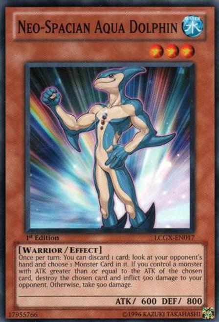 YuGiOh GX Trading Card Game Legendary Collection 2 Common Neo-Spacian Aqua Dolphin LCGX-EN017
