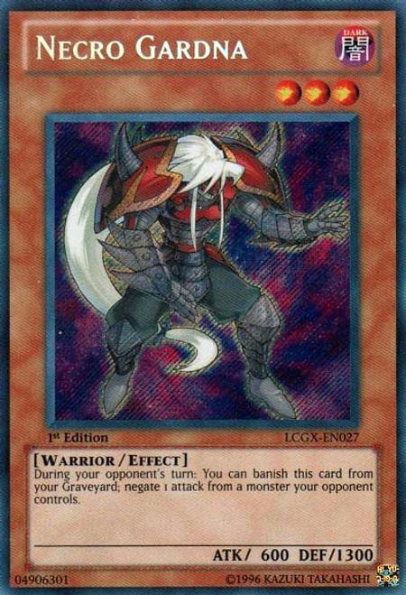 YuGiOh GX Trading Card Game Legendary Collection 2 Secret Rare Necro Gardna LCGX-EN027