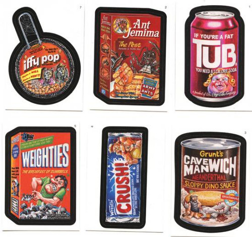 Wacky Packages Topps Series 5 Trading Card Sticker Complete Set