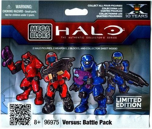 Mega Bloks Halo The Authentic Collector's Series Versus: Battle Pack Minifigure Mystery Pack [2 RANDOM Figures!]