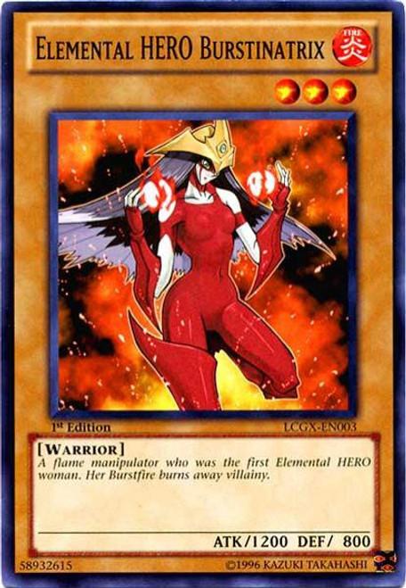 YuGiOh GX Trading Card Game Legendary Collection 2 Common Elemental HERO Burstinatrix LCGX-EN003