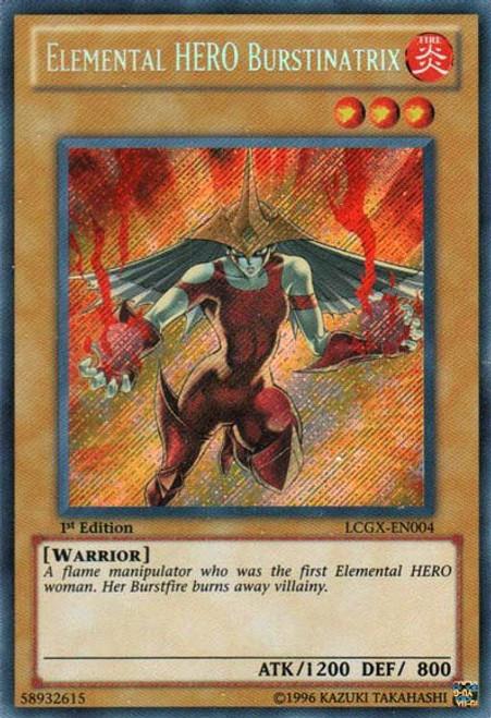 YuGiOh GX Trading Card Game Legendary Collection 2 Secret Rare Elemental HERO Burstinatrix [Alternate Art] LCGX-EN004