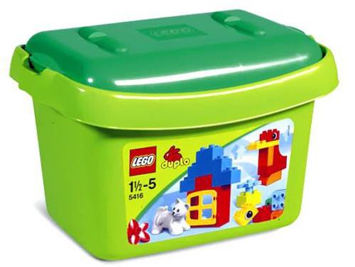 LEGO Duplo Green Brick Box Set #5416 [with Cat]