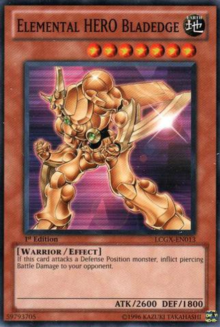 YuGiOh GX Trading Card Game Legendary Collection 2 Common Elemental HERO Bladedge LCGX-EN013