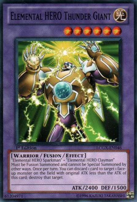 YuGiOh GX Trading Card Game Legendary Collection 2 Common Elemental HERO Thunder Giant LCGX-EN046