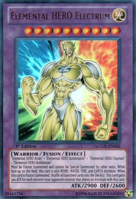 YuGiOh GX Trading Card Game Legendary Collection 2 Ultra Rare Elemental HERO Electrum LCGX-EN052