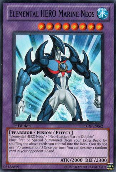 YuGiOh GX Trading Card Game Legendary Collection 2 Common Elemental HERO Marine Neos LCGX-EN062