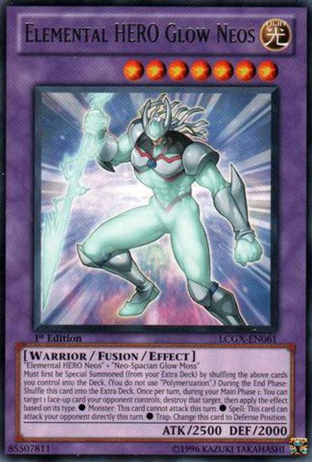 YuGiOh GX Trading Card Game Legendary Collection 2 Rare Elemental HERO Glow Neos LCGX-EN061