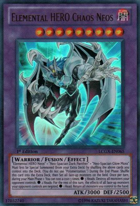 YuGiOh GX Trading Card Game Legendary Collection 2 Ultra Rare Elemental HERO Chaos Neos LCGX-EN065