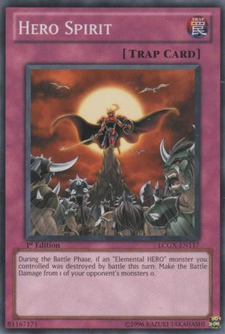YuGiOh GX Trading Card Game Legendary Collection 2 Common Hero Spirit LCGX-EN117