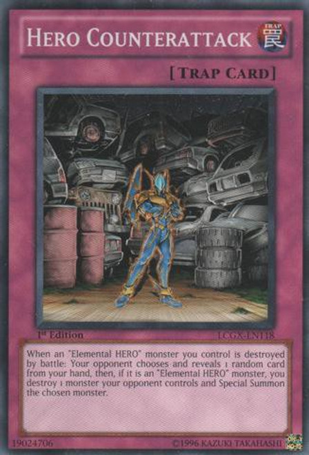 YuGiOh GX Trading Card Game Legendary Collection 2 Common Hero Counterattack LCGX-EN118