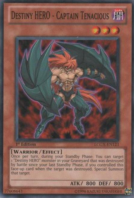 YuGiOh GX Trading Card Game Legendary Collection 2 Common Destiny HERO - Captain Tenacious LCGX-EN123
