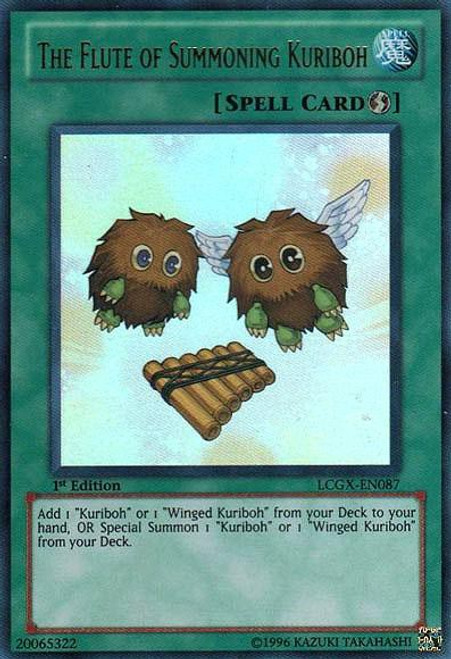 YuGiOh GX Trading Card Game Legendary Collection 2 Ultra Rare The Flute of Summoning Kuriboh LCGX-EN087