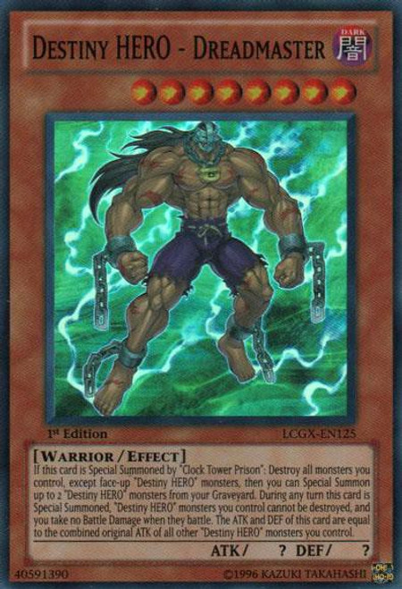 YuGiOh GX Trading Card Game Legendary Collection 2 Super Rare Destiny HERO - Dreadmaster LCGX-EN125