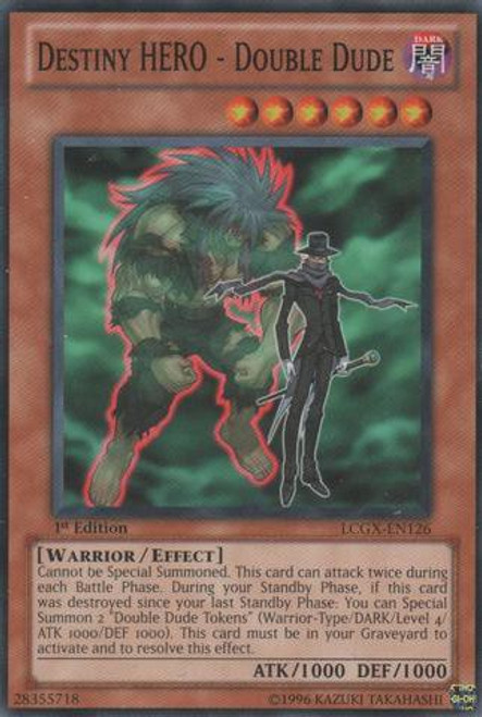 YuGiOh GX Trading Card Game Legendary Collection 2 Common Destiny HERO - Double Dude LCGX-EN126