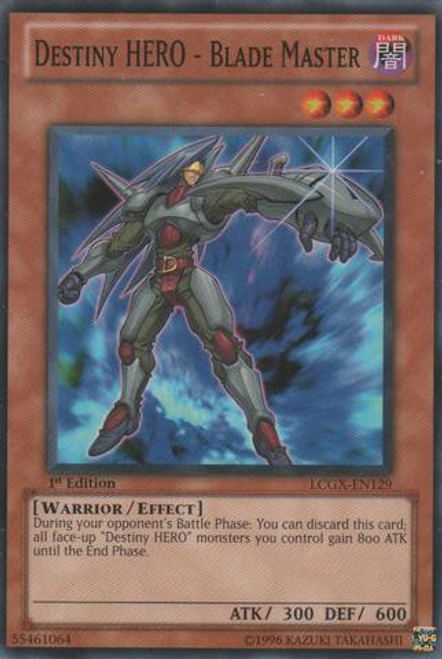 YuGiOh GX Trading Card Game Legendary Collection 2 Common Destiny HERO - Blade Master LCGX-EN129