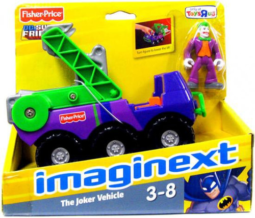 Fisher Price DC Super Friends Imaginext Joker with Vehicle Exclusive 3-Inch Figure Set