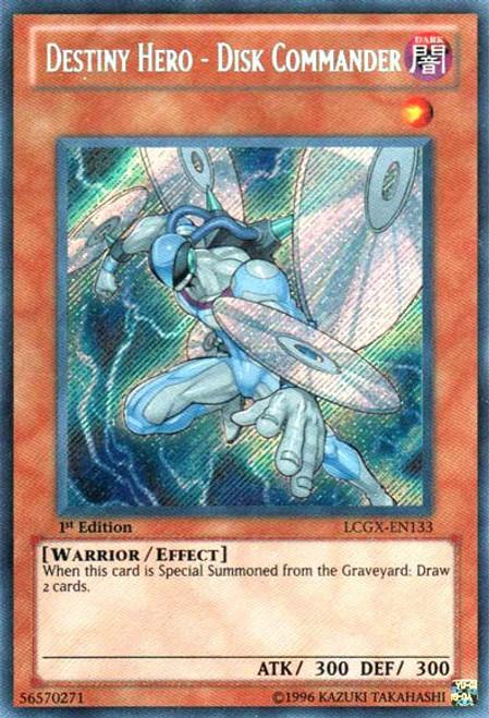 YuGiOh GX Trading Card Game Legendary Collection 2 Secret Rare Destiny HERO - Disk Commander LCGX-EN133