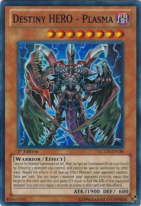 YuGiOh GX Trading Card Game Legendary Collection 2 Super Rare Destiny HERO - Plasma LCGX-EN134