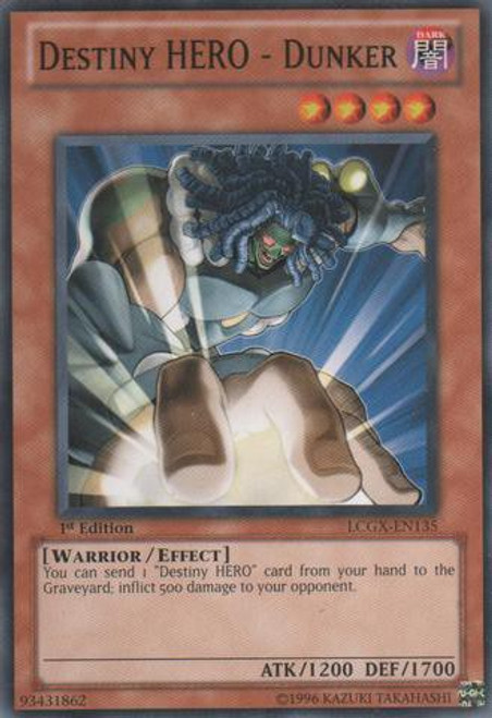 YuGiOh GX Trading Card Game Legendary Collection 2 Common Destiny HERO - Dunker LCGX-EN135