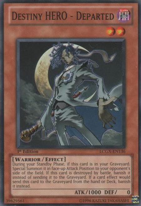 YuGiOh GX Trading Card Game Legendary Collection 2 Common Destiny HERO - Departed LCGX-EN136