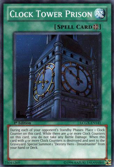 YuGiOh GX Trading Card Game Legendary Collection 2 Common Clock Tower Prison LCGX-EN141