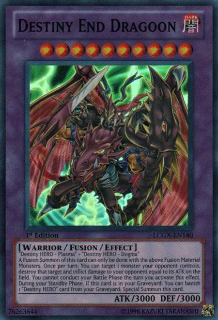 YuGiOh GX Trading Card Game Legendary Collection 2 Super Rare Destiny End Dragoon LCGX-EN140