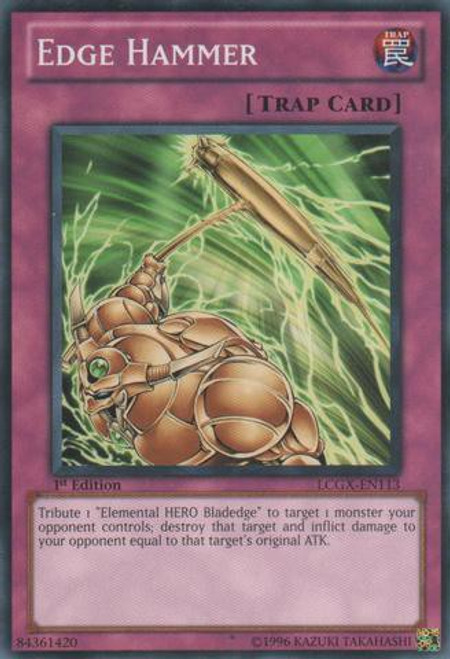 YuGiOh GX Trading Card Game Legendary Collection 2 Common Edge Hammer LCGX-EN113