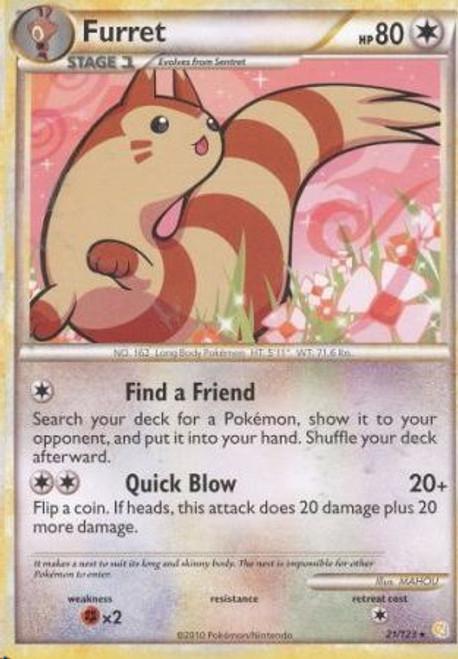 Pokemon HeartGold & Soulsilver HeartGold SoulSilver Rare Furret #21