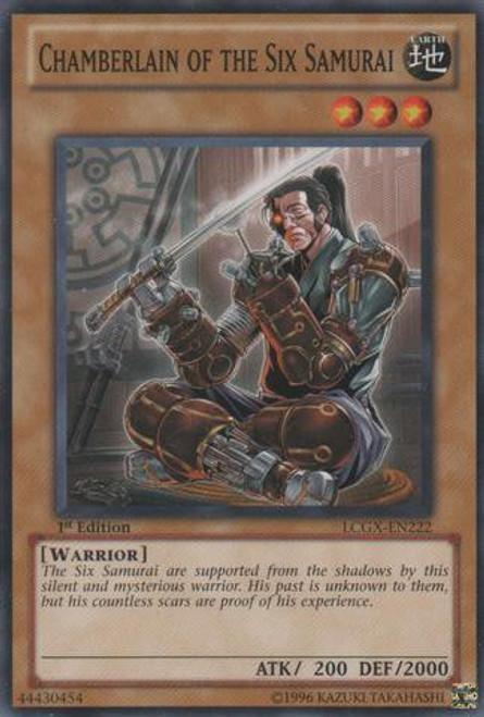 YuGiOh GX Trading Card Game Legendary Collection 2 Common Chamberlain of the Six Samurai LCGX-EN222