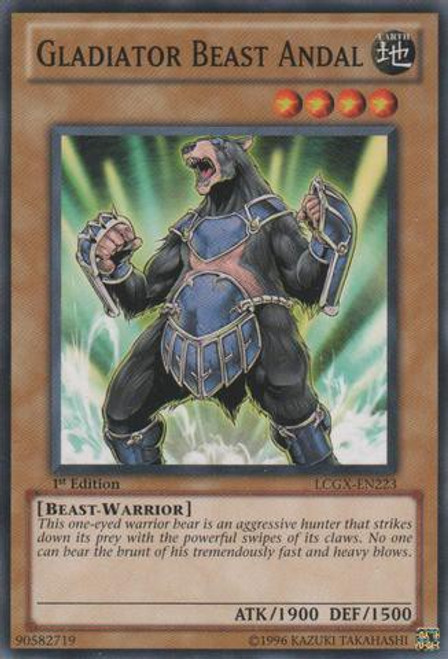 YuGiOh GX Trading Card Game Legendary Collection 2 Common Gladiator Beast Andal LCGX-EN223